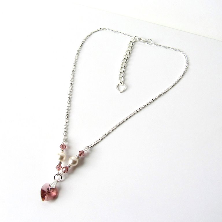 -blush pink necklace for girls