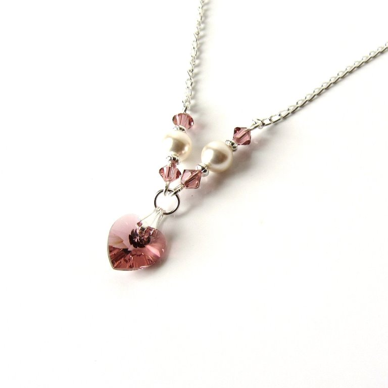GN21-blush pink necklace for girls