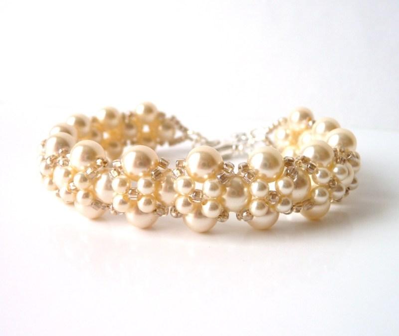WB5-champagne pearl bracelet