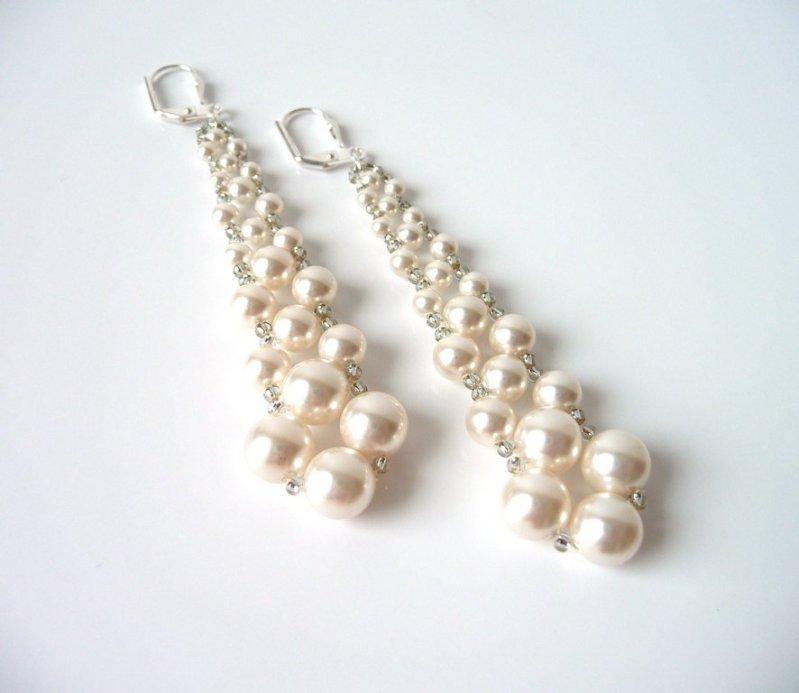 WE11-long pearl earrings