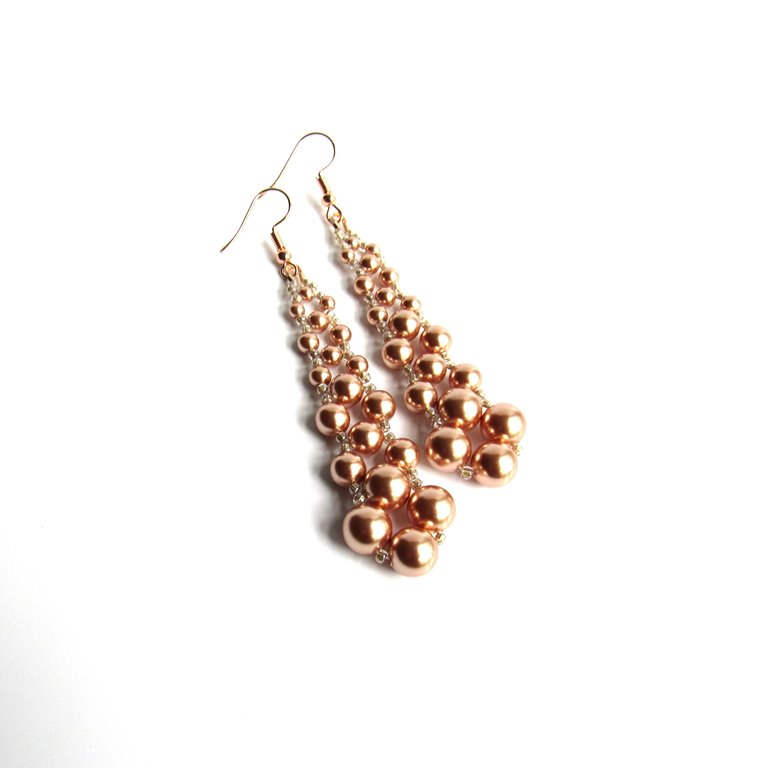 -long dangle earrings rose gold