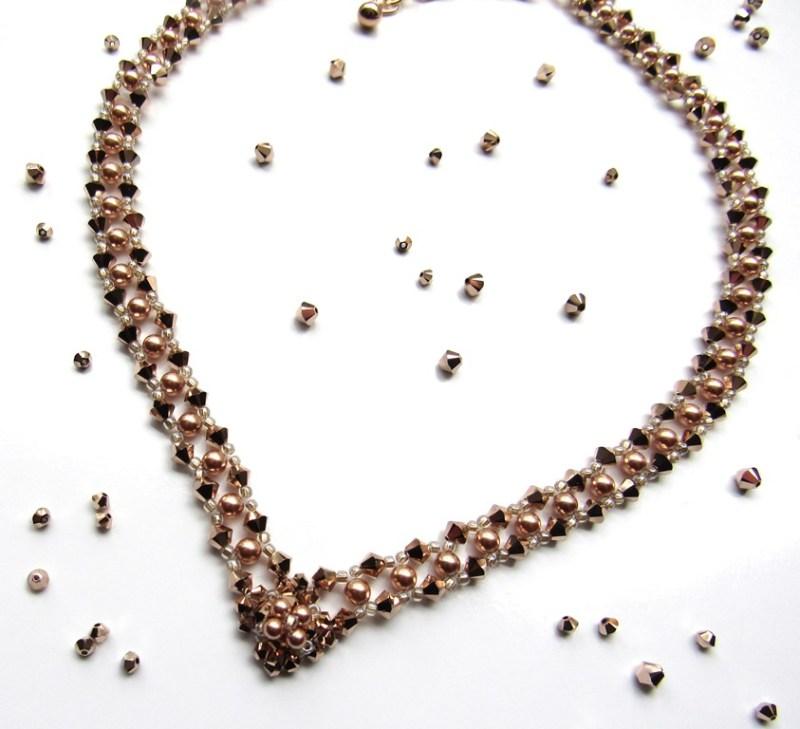 -rose gold v shaped necklace