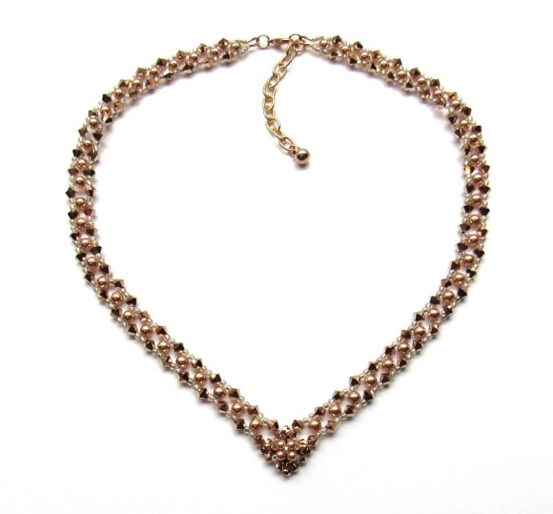 WN30-rose gold v shaped necklace