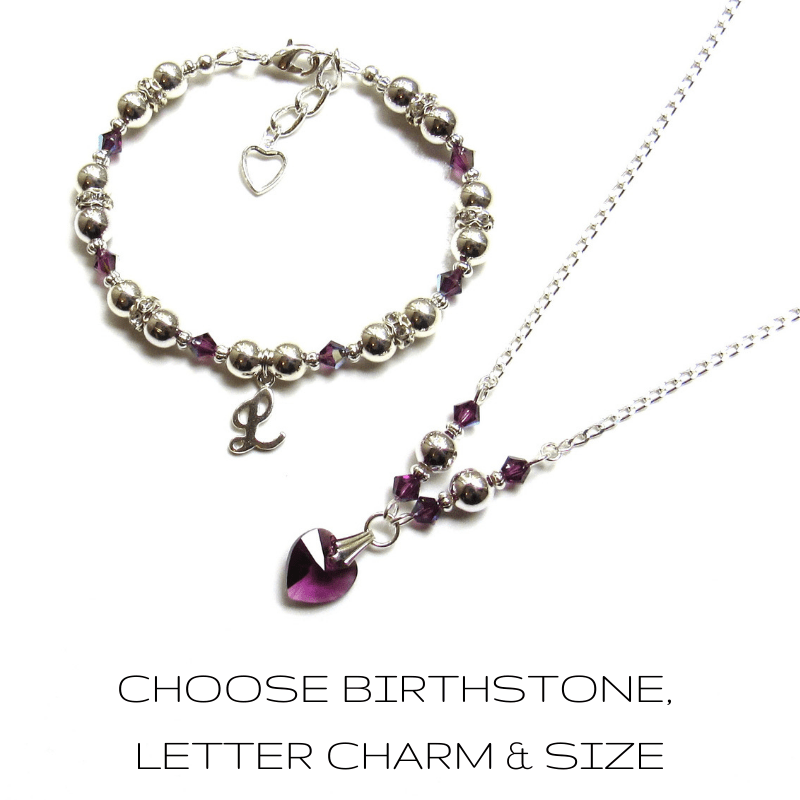 birthstone jewelry set for girls and women