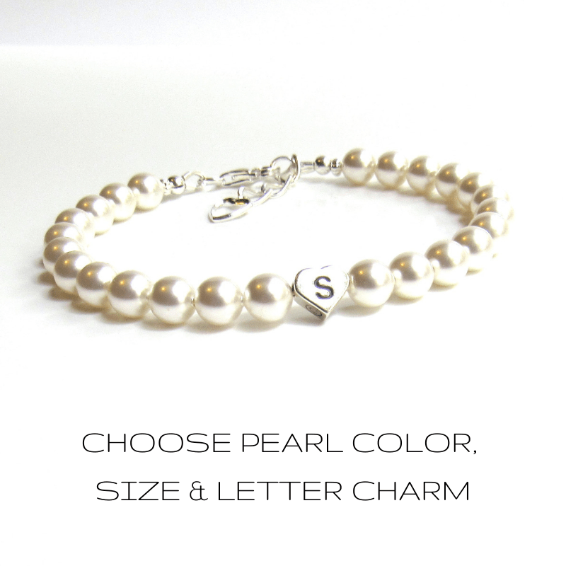personalized-bridesmaid-pearl-bracelets