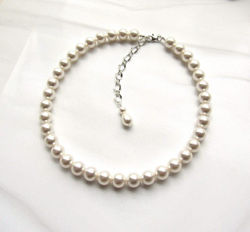 large pearl necklace strand 10mm