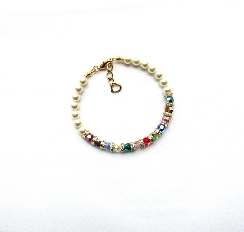 gold family birthstone bracelet