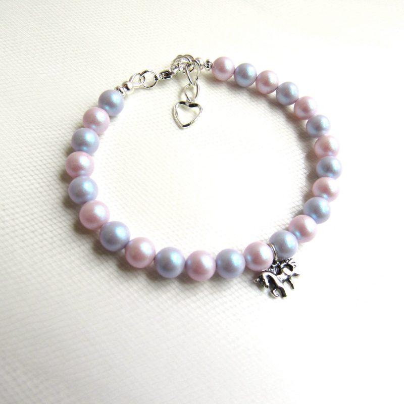 Unicorn charm bracelet for girls