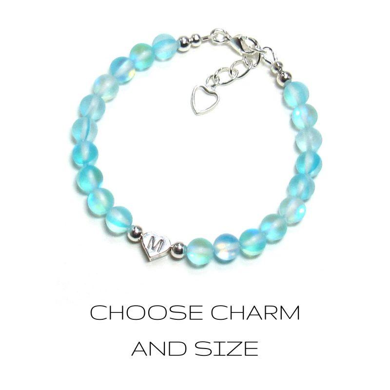 Turquoise Blue mermaid glass bracelet