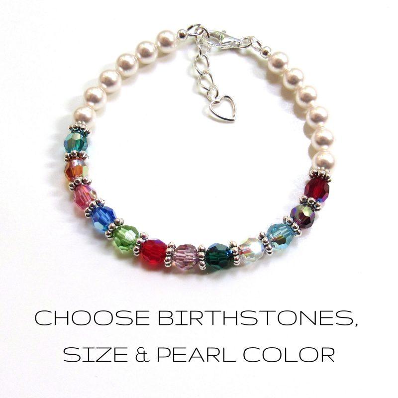 personalized grandmother bracelet