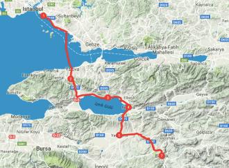 Istanbul Bilecik Bisiklet Rotası (0-154 km)