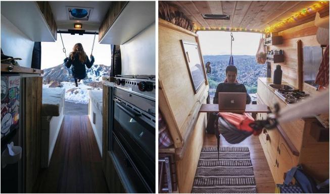 hamaklı karavan dizaynı