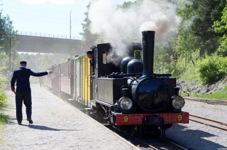 Östra Södermanlands järnväg, Ångansdag 2016, Nian avgår från Läggesta