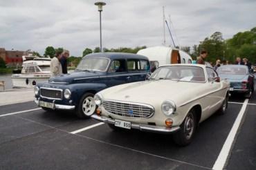 Ångans dag 2017, veteranbilar utställda i Mariefred, Volvo PV och P1800