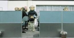Tunnelbana Odenplan, dockor och modeller från filmen min börda, kontor