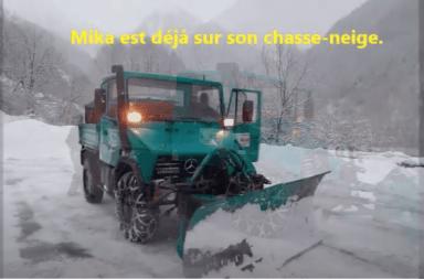 Chasse-neige à Melles