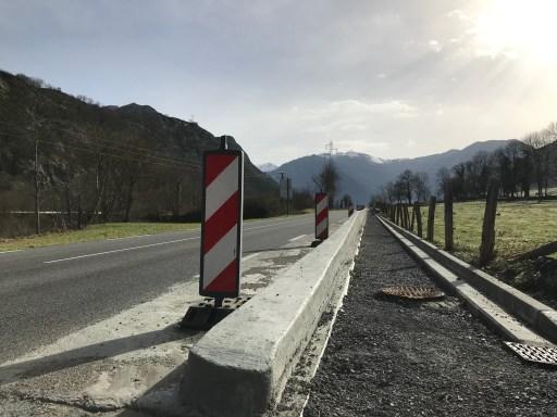 Travaux aménagement Transgarona à Arlos après Saint-Béat