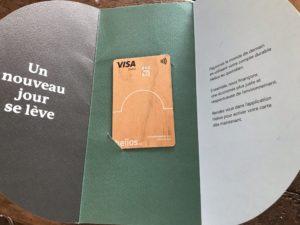 Carte bancaire Visa Bois Helios