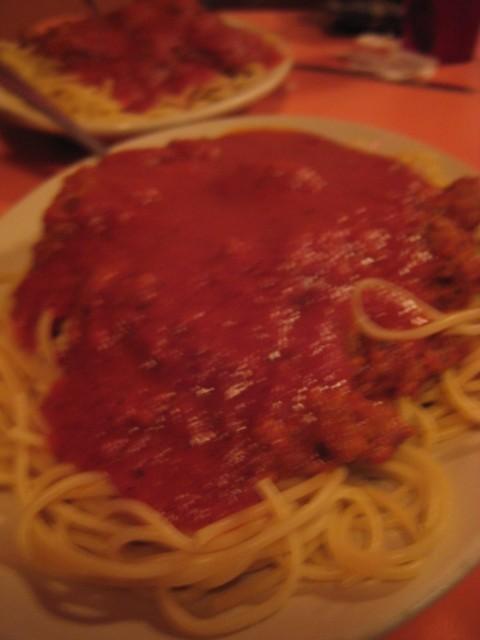 Lorenzo's Italian Restaurant | San Antonio, Texas | Spaghetti with Meat Sauce and Meatball