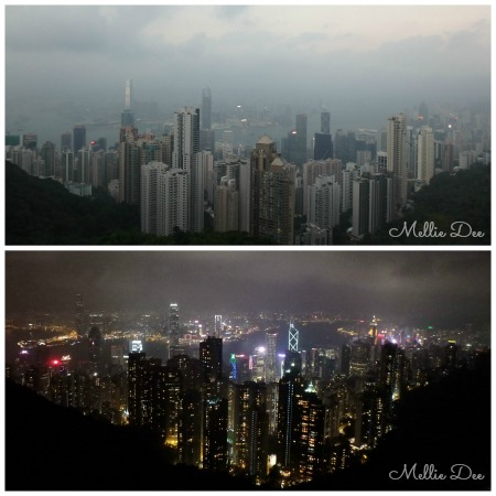 Day and Night Skyline Victoria Peak Hong Kong