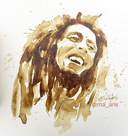 Bob Marley Coffee Art | Maria Aristidou