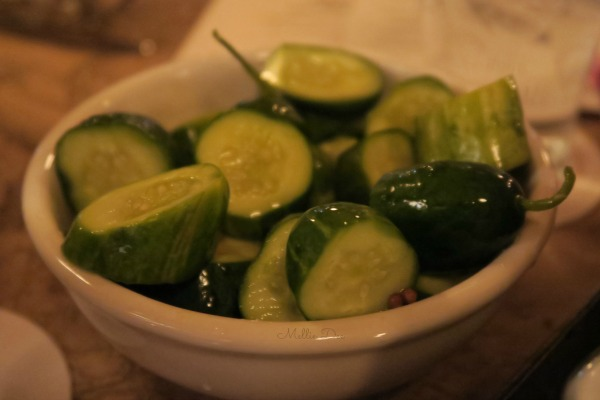 Ted's Montana Grill | Colorado Springs, Colorado | Pickled Cucumber