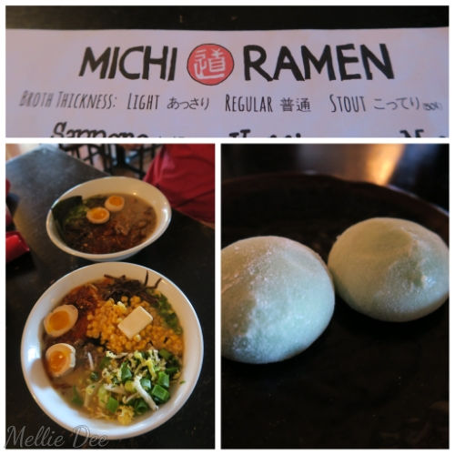 Michi Ramen | Austin, Texas | Sapporo Ramen, Michi Ramen, Green Tea Mochi, Pistachio Mochi