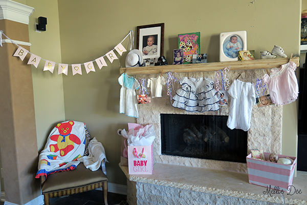 Caitlin and Rami Baby Shower for Peyton | Baby Clothesline, Banner, Blanket