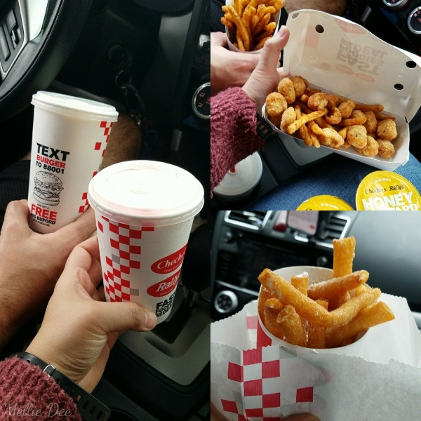 Checkers Drive-In | Beaumont, Texas | Vanilla and Strawberry Milkshakes, Famous Seasoned Fries, Chicken Bites & Fries Box, Funnel Cake Fries