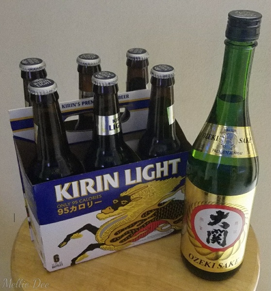 Kirin Light and Sake