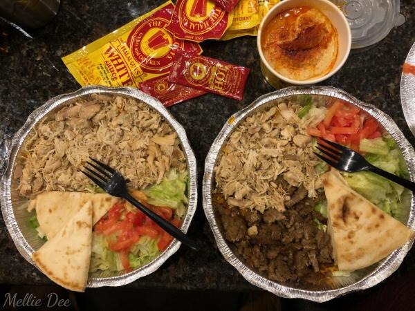 The Halal Guys | Houston, Texas | Chicken Platter, Combo Platter, Hummus