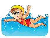 Bildergebnis für schwimmen kinder clipart
