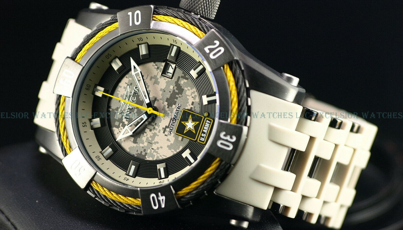 NEW Invicta Army Men's 50mm Sea Spider Bolt NH35A Auto Gunmetal IP Poly SS Watch