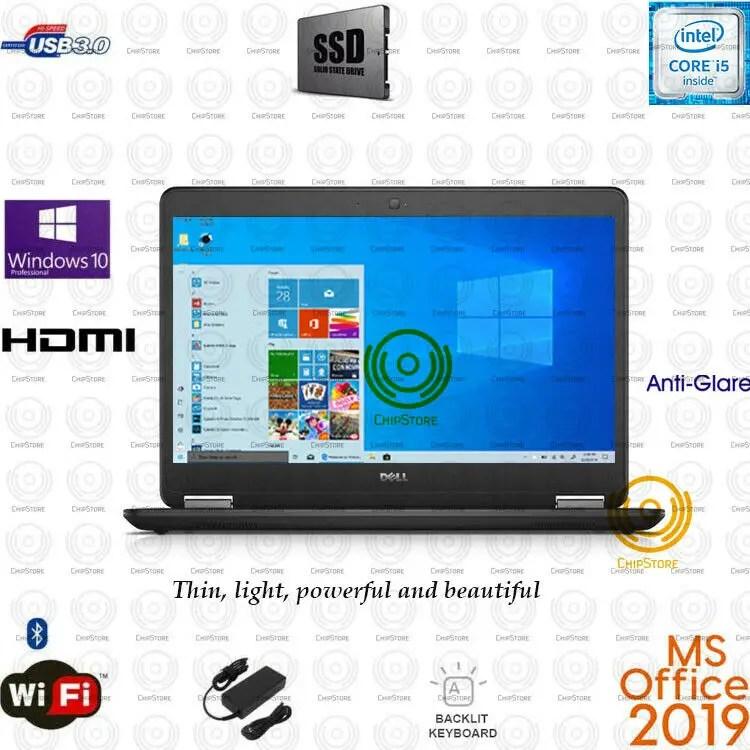 Dell Latitude Core i5 14 inch Ultrabook laptop 8GB   16GB RAM SSD Office 2019