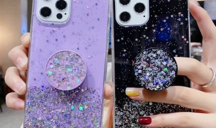 For iPhone 12 SE 2 XR X 11 Pro 7 Plus 8 XS Max Glitter Puller Holder Case Cover