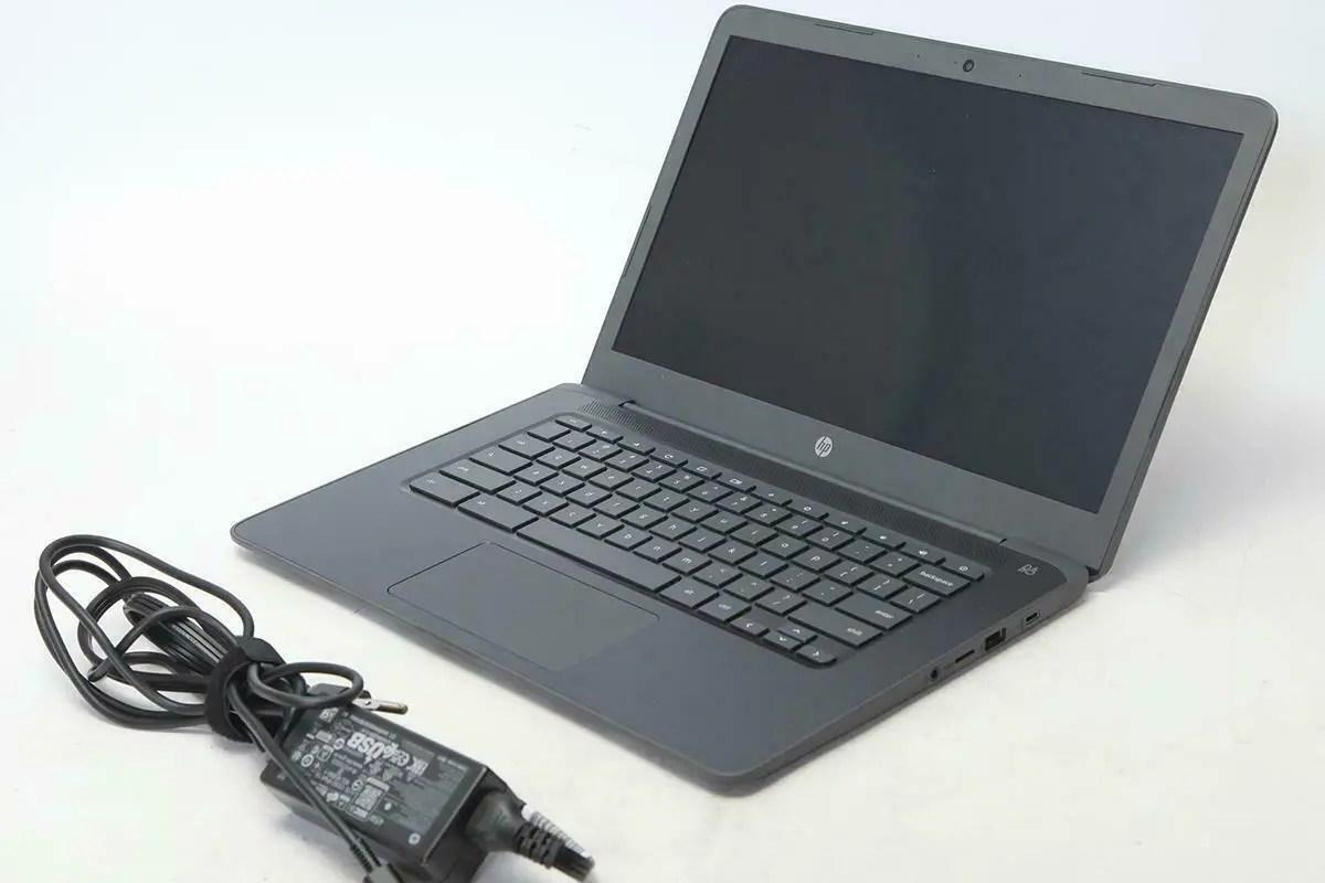 """HP Chromebook 14 14"""" HD Touchscreen Notebook Computer - Chalkboard Gray #1386158"""