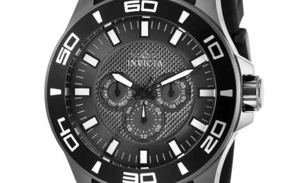 Invicta Men's Watch Pro Diver Quartz Chronograph Grey Dial Black Strap 30112