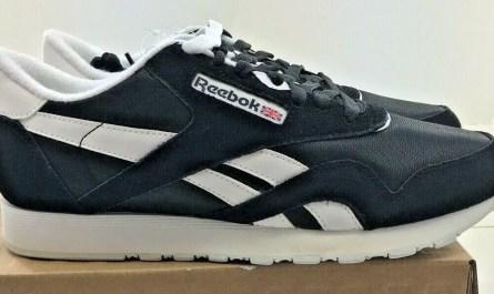 Reebok Classic Nylon Mens Black / White Walking Shoes  - NWD - Medium Style 6604