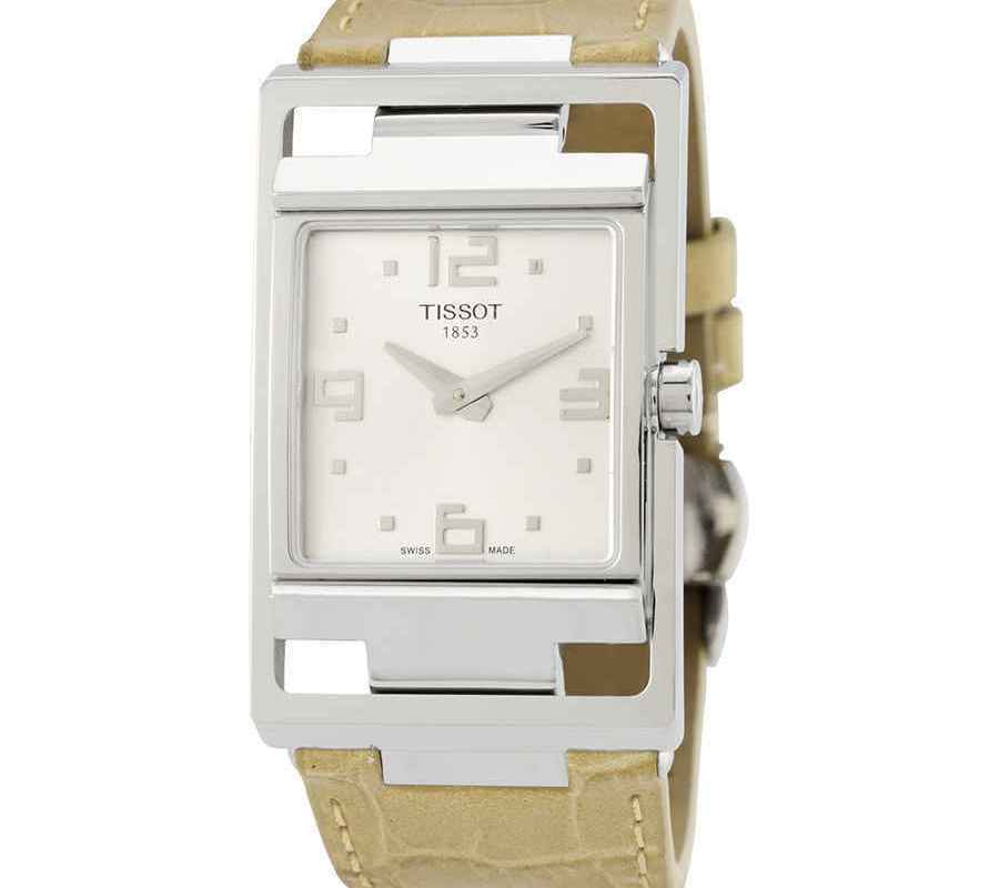 Tissot My T Silver Dial Beige Leather Ladies Watch T032.309.16.037.00