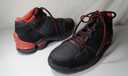 Retro Old School Men's Reebok Step Back Black/Red Champs Basketball Size 13 New
