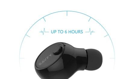 SAVFY Mini Wireless Bluetooth 4.1 Stereo In-Ear Headset Earphone Earbud Earpiece