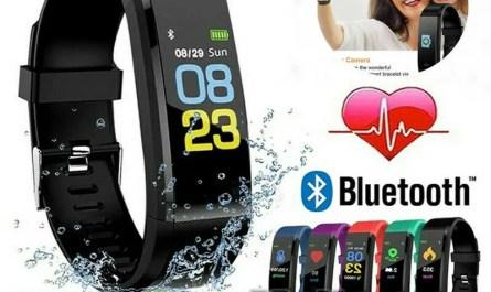 BT Smart Watch Fitness Activity Tracker Heart Rate Monitor Pedometer Waterproof