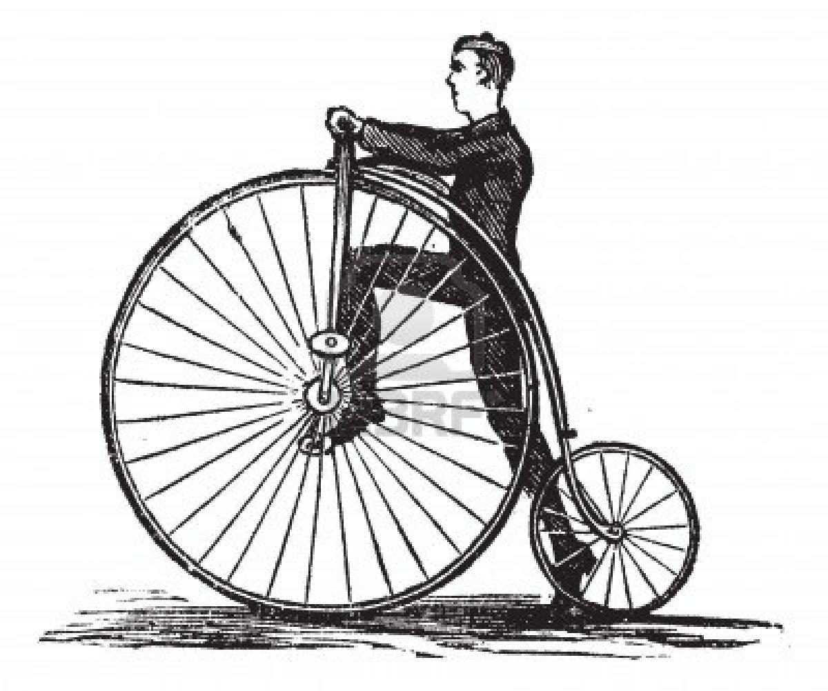 Bicycle On A Sidewalk.