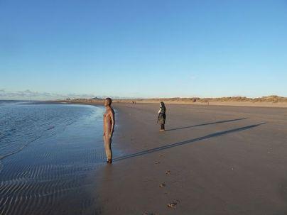 Seascape and the single figure