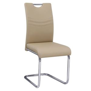 CROFT καρέκλα ΧρώμιοPU Ταμπά