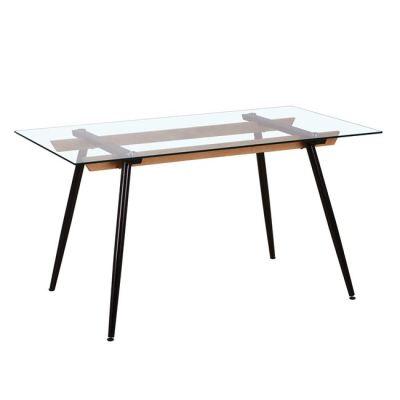 CARTER τραπέζι Βαφή Μαύρη/Γυαλί