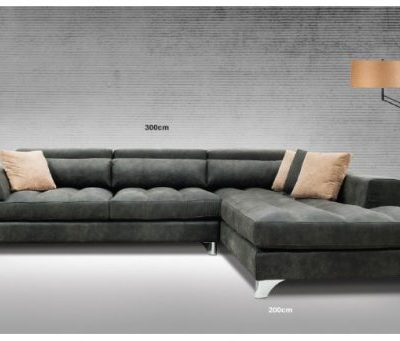DIMA καναπές γωνία σκ. γκρί