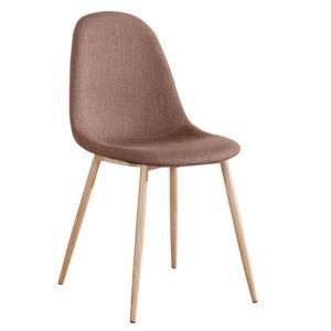 CELINA καρέκλα Μεταλλική Φυσικό/Ύφασμ.Καφέ