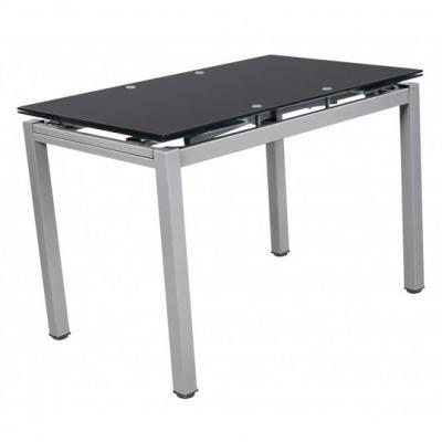 Τραπέζι μεταλλικό 110(170)χ70εκ. επεκτεινόμενο ανοιγόμενο Μαύρο XS25