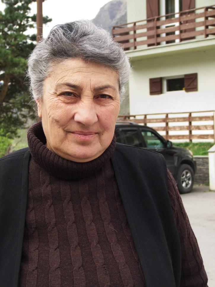 Taliko, mon hôtesse à Kazbegi, en Géorgie.